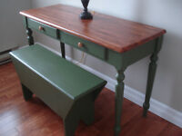 Sofa Table/Desk and Bench