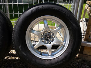 """15"""" Monza rims and tires"""