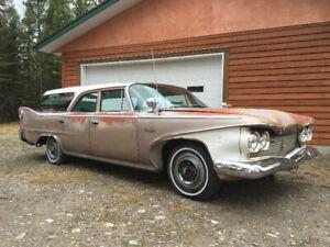 60 Plymouth wagon with original big block HP engine
