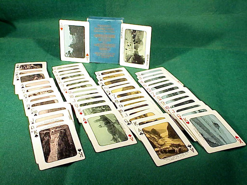 Vintage DENVER & RIO GRANDE RAILROAD Boxed Playing Cards - Circa 1900