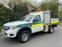2010 60 FORD RANGER 2.5TDCI XL 4X4 143 BHP SINGLE CAB DROPSIDE PICK UP WITH TOOL
