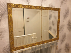 Large Beautiful gold mirror with berries