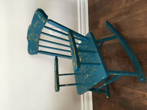 Child sized solid wood rocking chair  Waldorf style