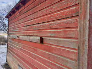 Authentic Ranch Building with Red Barnboard