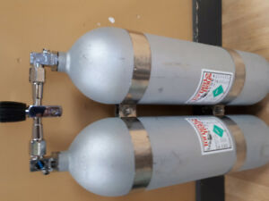 Twin LP Steel 72 Scuba Tanks