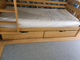 Bunk beds with mattresses