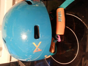 child snowsport helmet ski or snowboard