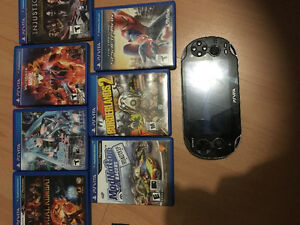 Ps vita like new , 8 games