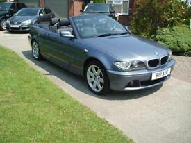 2004 CONVERTIBLE BMW 318CI SE CABRIOLET LEATHER AIR CON 82,332 MILES EXCEPTIONAL