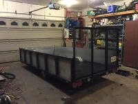 6x12 utility trailer can fit 2. 4 wheeler