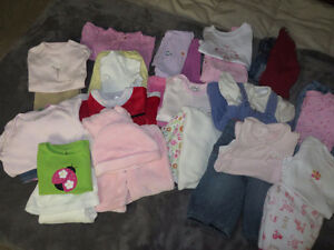 girls size 3-6 months 31 pieces of clothing page one