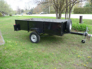 8 FT X 4 FT 5 INCH GALVANIZED UTILITY TRAILER