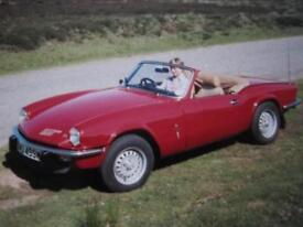 NOW SOLD CLASSIC CAR TRIUMPH SPITFIRE NOW SOLD