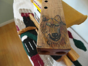 Wolf Drone Flute is tuned to the Key of A