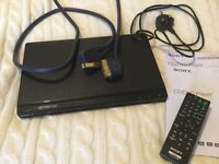 Sony DVD/CD player with remote and leads