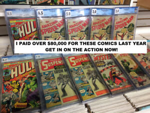 Buying: Comic Books, Vintage Toys, Games and Art - Cash Up Front