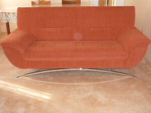 Sytlish Sofa -  AACHEN SOFA TERRACOTTA - $650