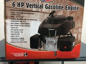 Gas Motor 6 HP 173CC 4 Stroke OHV 7/8 Vertical Shaft Air-Cooled