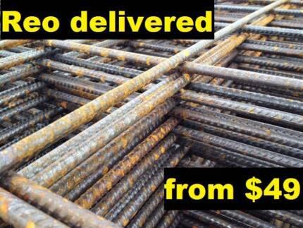 Reo Concrete Mesh Steel Sheet - F52 F62 F72 & more