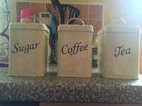 Tea, Coffee, Sugar Containers