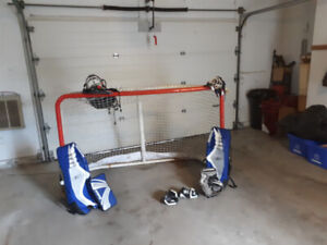 Goalie net and extras