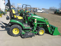John Deere 1025R Tractor, Loader & Mower Package/0% Financing