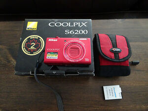 Nikon Coolpix S6200 camera - red