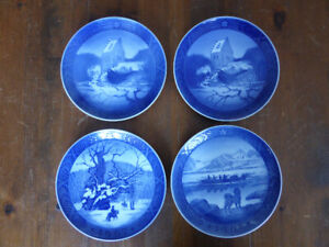 4 Royal Copenhagen Christmas Plates - 1966-1968