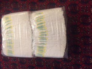 Baby Diapers pampers size 1  (62 peices ) for   12$