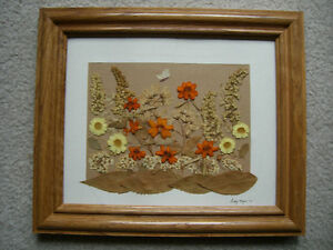 Handcrafted Original Pressed Flower Art