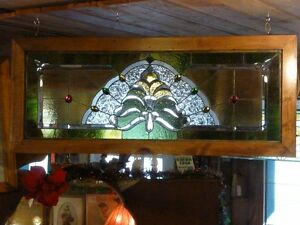 *!*!*!*!*!*ANTIQUE LEADED STAINED GLASS WINDOW*!*!*!*!*!