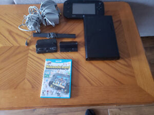 Wii U with game pad,Nintendo land and cables