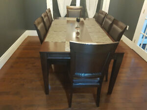 Dinning Set Table 8 Chairs