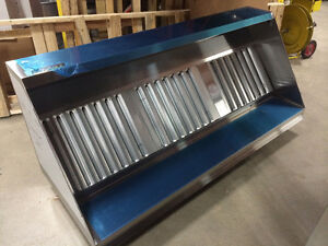 4ft to 10ft ETL Food Truck / Concession Grease Hood System