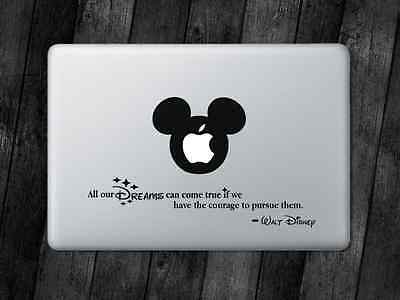 Disney Quote Sticker Mickey Decal Apple MacBook iPad Laptop Car Window