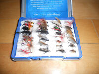 Coffre a mouche plein, pour Truite, Fly fishing box