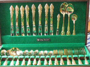 1847 Rogers Bros. gold plated flatware