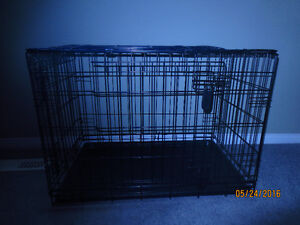 med. to large puppy training crate