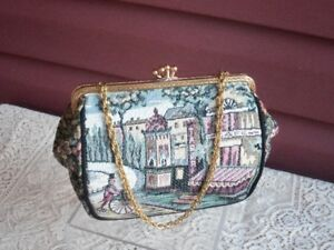 Lovely Tapestry Evening Style Bag with Chain Handle!
