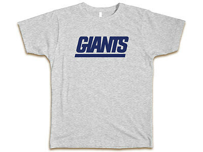 New York Giants Custom Tee Heather Gray T-Shirt New Sz S-3XL New York Tee