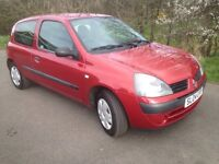RENAULT CLIO 1.2,2004,MOT MAY 2018,ONLY 89000 MILES,£795!
