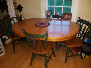 Solid Wood Dining Table with extension