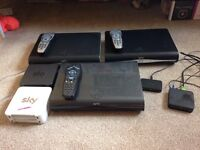 Sky hd 2 TVs box plus 2 other sky hd boxes