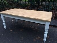 LARGE FARMHOUSE KITCHEN DINING TABLE