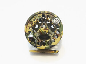 5/6 CNC ANODIZED ALUMINUM ALLOY MED ARBOR FLY REEL CAMO