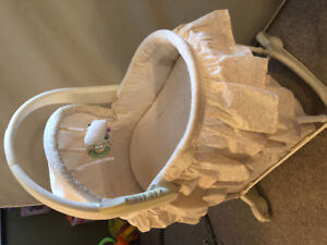Bassinet- musical, light up and removal bassinet from stand