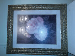 Picture with rose and gold frame