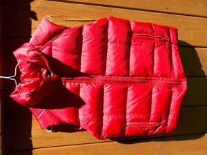 Vestes capitonnées rouges