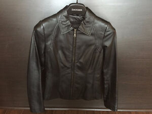 Danier Leather Coat - Black XXS