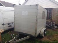 """Heinmann tow a van box trailer 10x5' 4"""" aluminium height weigh 2000kg"""